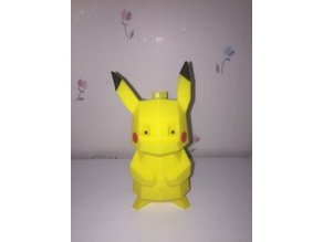 4-Color Low-Poly Pikachu