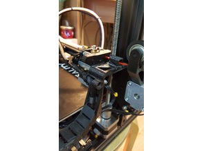 Ender 3 Filament Guide & Chain holder (Free mount)