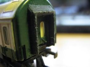 Gummiwulstübergang für UIC-Wagen der BTTB   rubber diaphragm connections for UIC carriages of BTTB