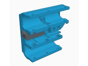 X-Carriage for Toranado Extruder and 10mm guide rods with tensioner