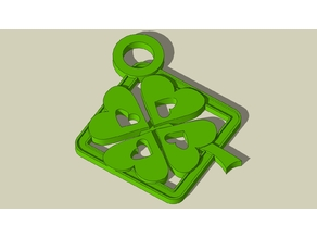 Amulet with clover