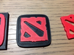 Dota 2 logo - two pieces press fitted