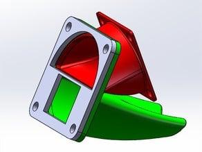 Radial fan adapter plate