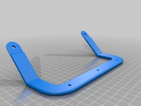 Ender 3 hotbed handle with mounting screws holes