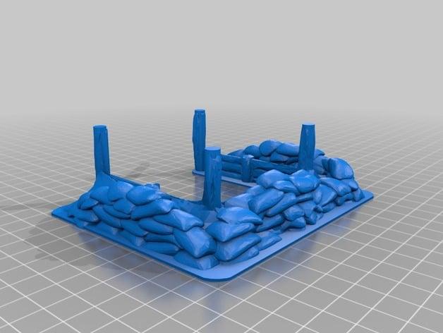 3d printed sandbag bunker by deweicat