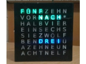 Rainbowduino Word Clock (german)