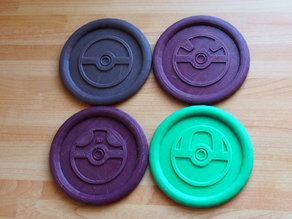 Pokemon Pokeball Coasters