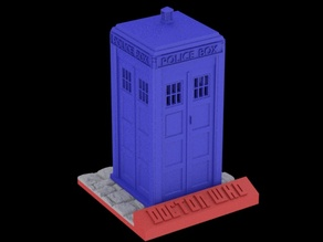 Tardis sliced with stand