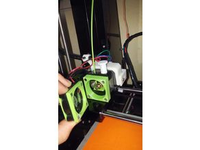 Anet A6 easy magnetic extruder access (fixed)