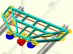 "Makerfarm i3v 10"" Y-Bed & Y-axis Belt clamp"