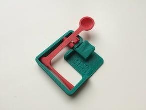Snap-together desktop catapult