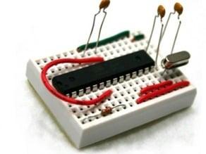 Bareduino - Arduino Compatible Breadboard Microcontroller