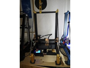 Tevo Tornado adjustable feet to elevate the printer