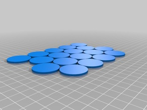4x5 game piece grid 2x30mm 1.02 spacing