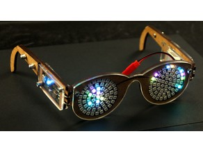 Midnight Sunglasses for the new year - lasercut an LEDs by Folker