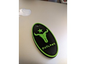 Houston Outlaws Keychain