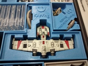 K-Wing Holder (X-Wing Miniatures) for Stanley organizer