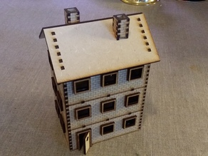 Modular 28 mm Laser cut brick house with three floors