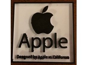 Apple Logo Plate (Plate, Hanger, or With Screw Holes)