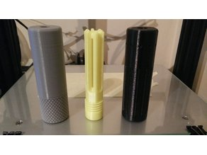 Airsoft Flash Hider and Silencer (10cm and 5cm versions)