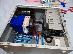 120mm CPU Heatsink Fan to 80mm Case Exhaust Duct