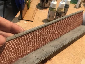 Brick Wall with Sidewalk for Laser Cutter