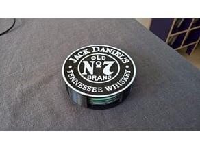 Jack Daniel's coaster holder