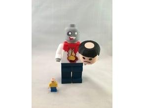 LEGO zombie (hand stump & severed head)