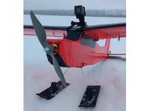 Skis for RC airplane