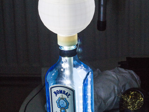 Upcycled sapphire gin LED Lamp