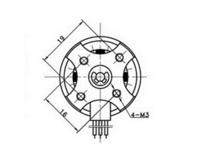 3DLabPrint Edge 28xx motormount