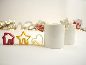 Mug Christmas Cookie Cutters