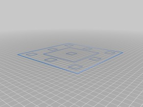 Bed Levelling Template for AnyCubic i3 Mega (All Versions)