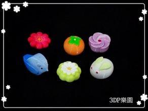 Japanese Desserts - no hole (6 types)