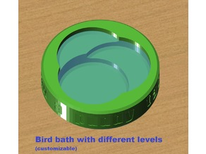 Bird bath with different levels (customizable)
