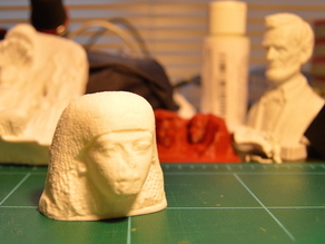 Statue head of a man