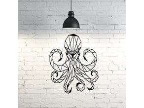 Octopus wall Sculpture 2D