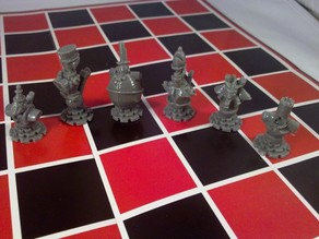Steampunk Chess Individual pieces