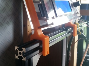 Tevo Tarantula display clamps / LCD bracket