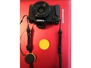 Canon camera 37mm cap strap holder