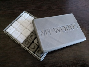 My words dice game (english)