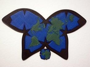 Waterman Butterfly World Map Projection