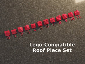 Lego Compatible Roof Transition Pieces