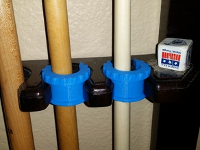 Short Pool Cue Holder By Zaxous