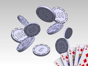 Poker Chips - 1, 5, 10, 50, 100, 500, 1K, 5K, 10K