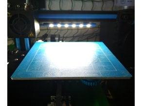 Printer bed lighting - V-slot 2020 click-mount (Ender-2, CR-10)