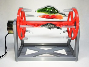 Rotating Fishing Lure Drying Rack