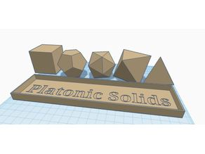 Platonic Solids with Tray