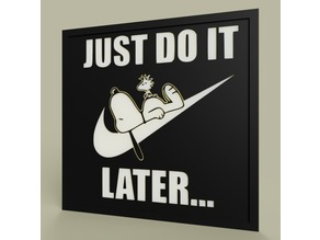 LOL - Snoopy - Nike - Just Do It Later