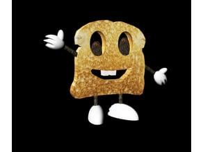 Happy Cartoon Toast